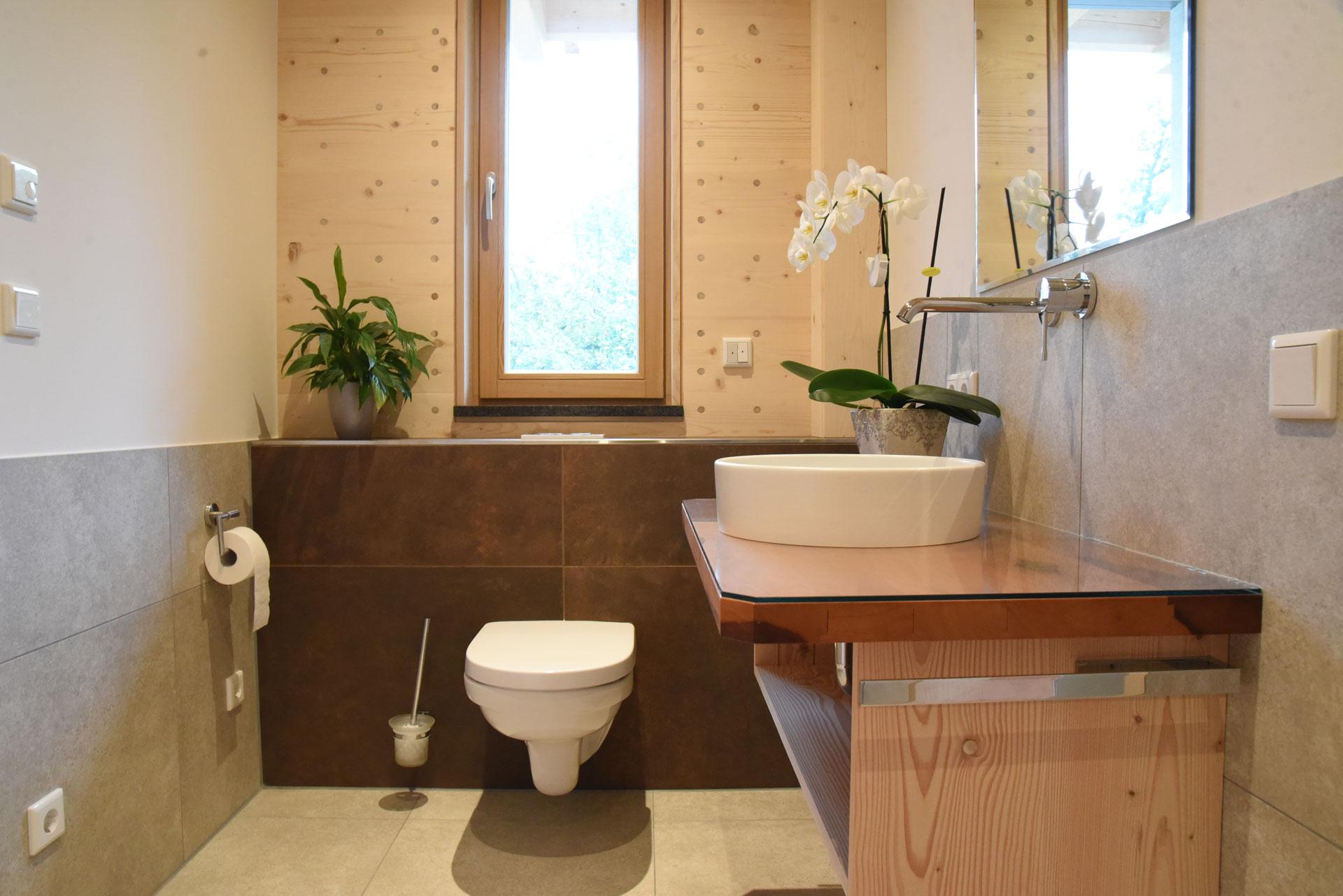 Bad in der Probewohnung Bad Feilnbach