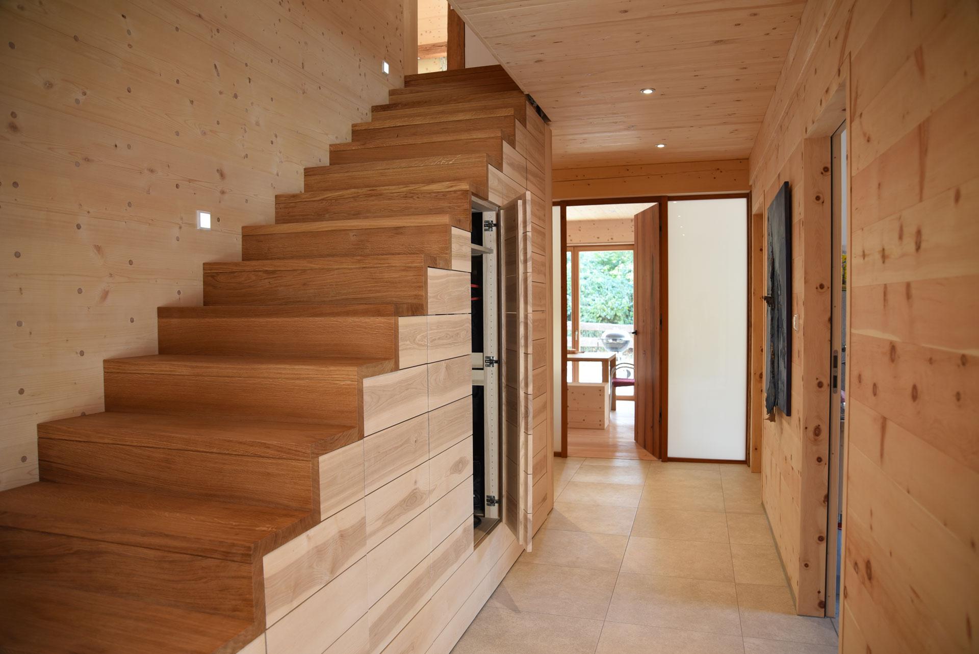 Treppe aus Mondholz Eiche