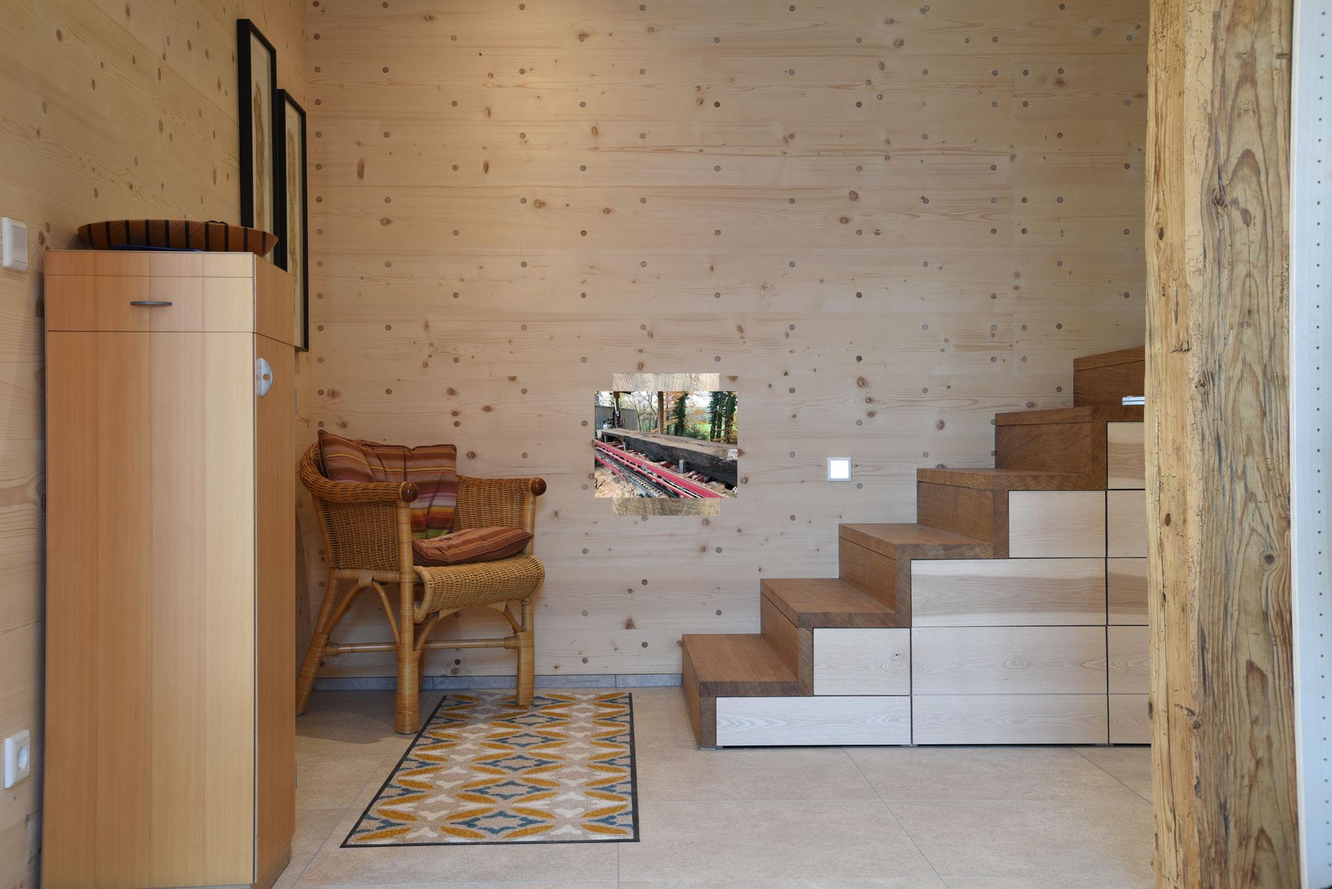 Flur im Holz100 Haus