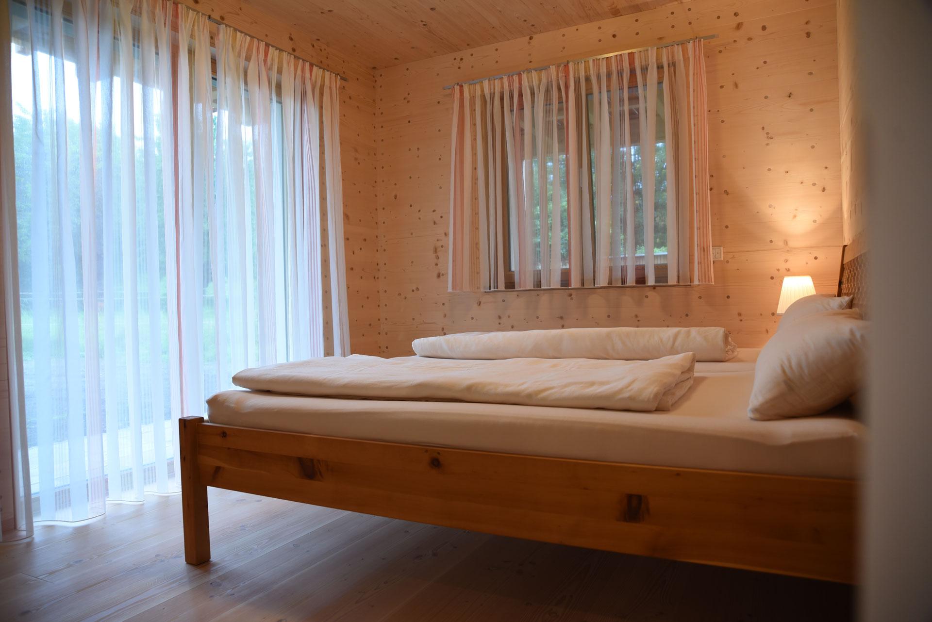 Schlafzimmer in der Probewohnung