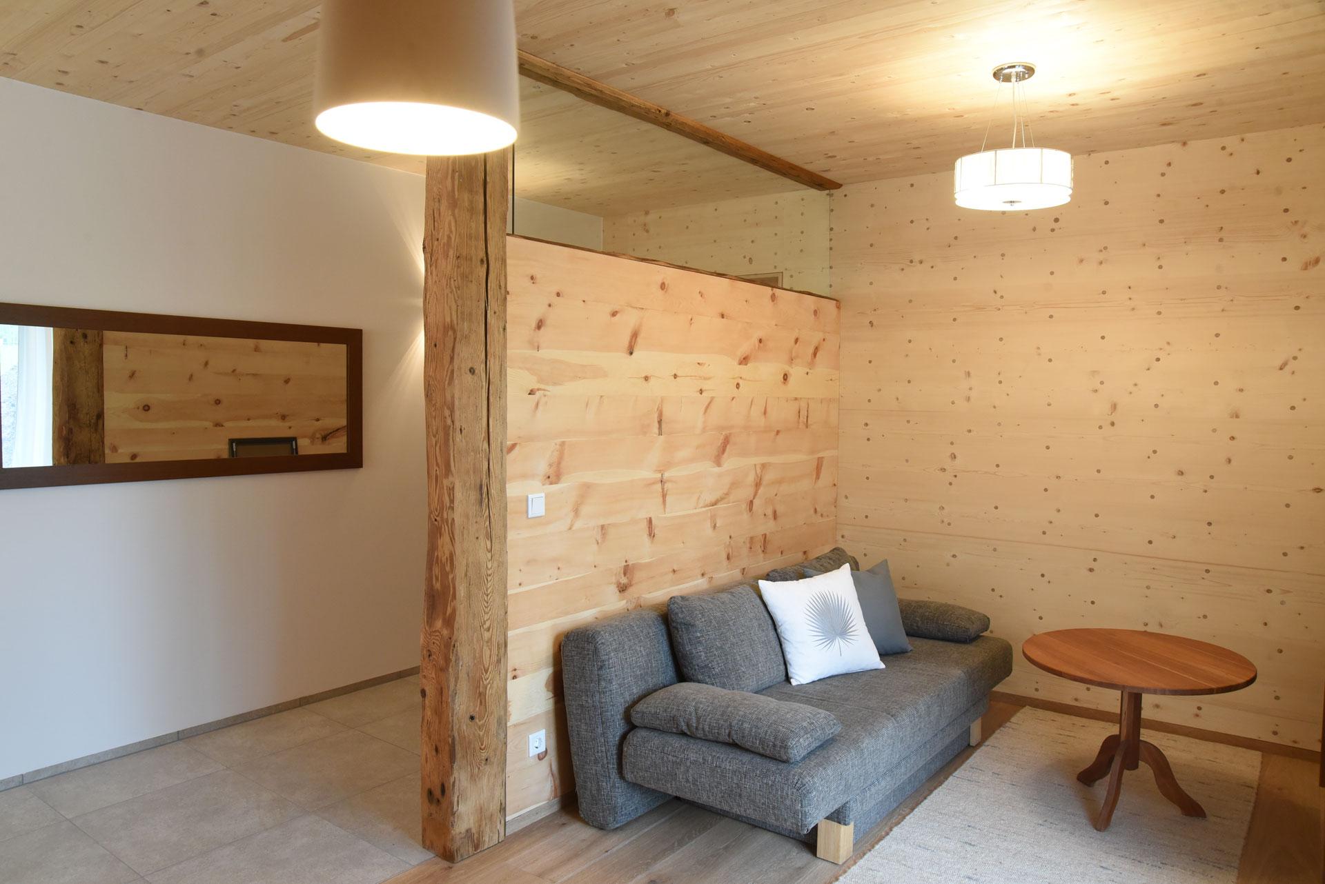 Wohnraum in der Probewohnung